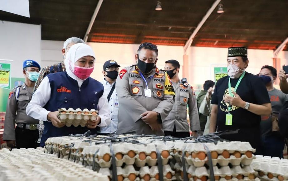 Gubernur meninjau lumbung pangan Jatim/ist