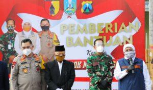Gubernur Khofifah, Pangdam dan Kapolda saat silaturahmi di Pondok Modern Gontor/ist